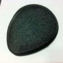 Black Teardrop Buckram Hat Base